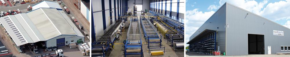 Anlagen, Produktionshallen, Fimengelände