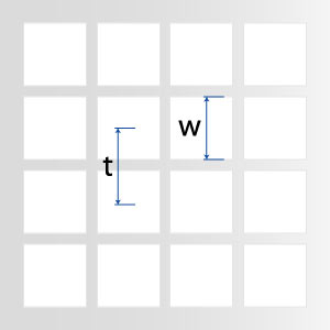 Quadratlochung in geraden Reihen